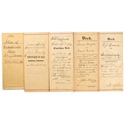 Virginia City,NV - Storey County - Crosby Papers, Deeds :