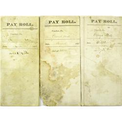 Virginia City,NV - Storey County - 1876-1883 - Mill Payroll Vouchers :