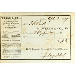 Albany,NY - 1849 - Wells & Co. Document :
