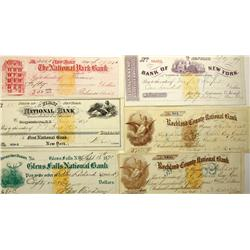 New York,NY - New York County - 1860-1880 - New York City Bank Checks :
