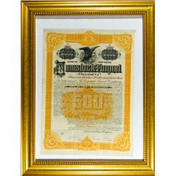 New York City,NY - 1889 - Comstock Tunnel Company First Mortgage Income Bond :