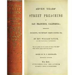 New York City,NY - 1856 - Seven Years Street Preaching in San Francisco, Book :