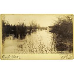Albany,OR - Linn  & Lane Counties - 1890 - Flood Photograph :