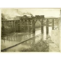 Myrtle Point,OR - Coos County - 1912 - Railroad Trestle Bridge Photograph :