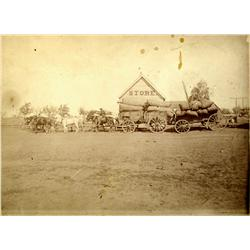Nansene,OR - Wasco County - c1900 - Wagon with Team and Postillion Rider Photograph :
