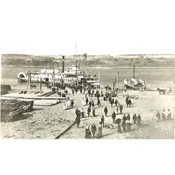 The Dalles,OR - Wasco County - c1900 - Paddlewheel Steamer and Ferry Boat Photograph :