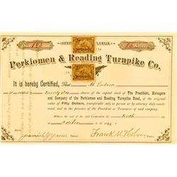 PA - Perkiomen & Reading Turnpike Co. Stock :