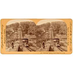 Mauch Chunk,PA - Switch-Back Railroad Stereoview :