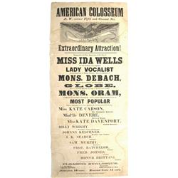 Philadelphia,PA - c1860 - Advertising Poster for the American Coliseum :