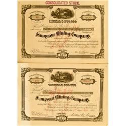 Bingham,UT - Sampson Mining Co. Stocks :
