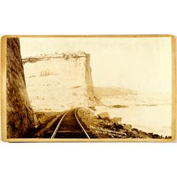 Dodge's Bluff,UT - c1881 - Canon of Grand River Photograph :