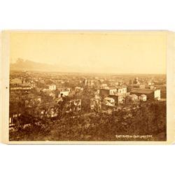 Salt Lake City,UT - Salt Lake County - c1880 - Bird's Eye View Photograph :
