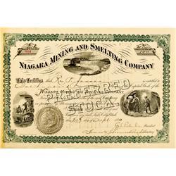 Salt Lake City,UT - Bingham County - September 20, 1890 - Niagara Mining & Smelting Company, Preferr