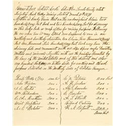 Stockton,UT - Tooele County - March 11, 1871 - Beautiful Star Lode Document :