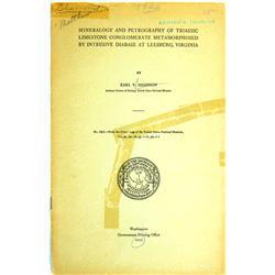 Leesburg,VA - Loudoun County - 1925 - Mineralogy and Petrography… :