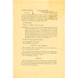 WA - Oct. 30, 1862 - Civil War General Order :