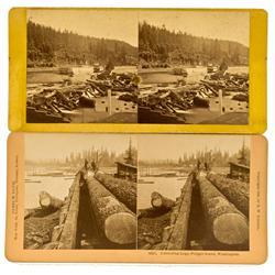 WA - 1896 - Logging Stereoveiws :