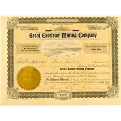 Seattle,WA - King County - January 29, 1907 - Great Exelsior Mining Company :
