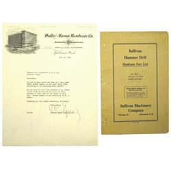 Spokane,WA - Spokane County - 1929 - Holly-Mason Hardware Co. Letter and Sullivan Machinery Co. Cata