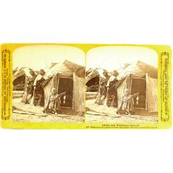 Kilbourn City,WI - Columbia County - c1865-1908 - Winnebago Indians Stereoview of a 120-Year-Old Chi