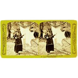 Lundy,WI - Winnebago County - c1880s-1890s - Winnebago Miss Tanning a Deerskin Stereoview :