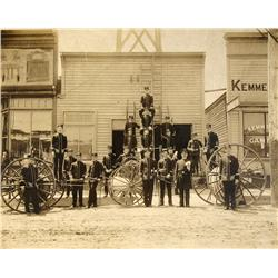 Kemmerer,WY - Lincoln County - c1905 - Firemen Pose Photograph :