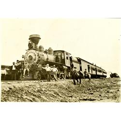 Kirby,WY - Hot Springs County - c1895 - Locomotive Photograph :