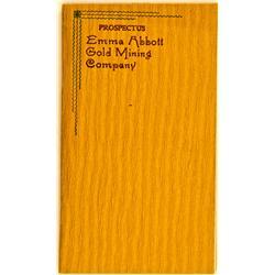 Canada, Ontario,1899 - Emma Abbott Gold Mining Company Prospectus :