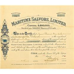 England,May 21, 1920 - Maritime Salvors, Limited, Stock :