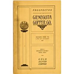 Mexico,Sonora State - 1901 - Cieneguita Copper Co. Prospectus :
