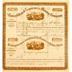 Mexico, Pachuca Pachuca,Hidalgo State - October 23, 1878 - Consolidated Esperanza Mining Company, St