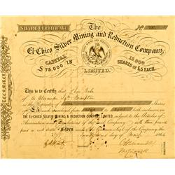 Mexico, Real del Monte,Hidalgo State - March 21, 1864 - El-Chico Silver Mining and Reduction Company