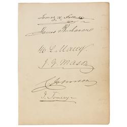 James Buchanan and James K. Polk