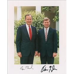George Bush and Dan Quayle