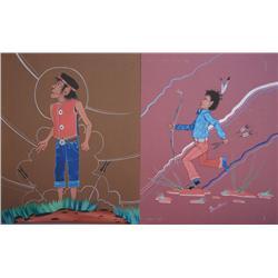 TWO NAVAJO WATERCOLORS