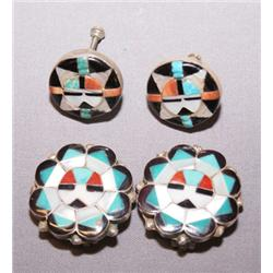 2 PAIR OF ZUNI EARRINGS