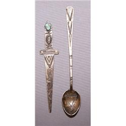 NAVAJO SPOON AND LETTER OPENER