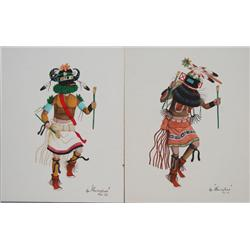 TWO HOPI WATERCOLORS