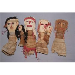 4 PERUVIAN DOLLS