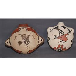 2 ZIA POTTERY CANTEENS