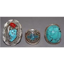 3 NAVAJO RINGS