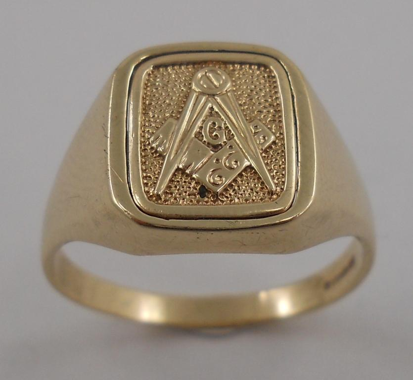 Estate Jewelry Masonic Ring