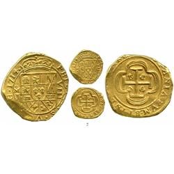 Mexico City, Mexico, cob 8 escudos, 1714J, from the 1715 Fleet.
