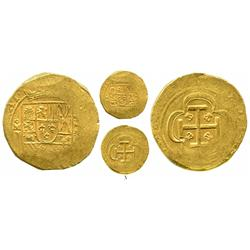 Mexico City, Mexico, cob 8 escudos, 1714J, with date at top of cross and GRAT at 10-11 o'clock on sh