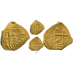 Mexico City, Mexico, cob 4 escudos, Charles II, assayer L, from the 1715 Fleet.