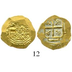 Mexico City, Mexico, cob 1 escudo, Philip V, assayer J (1702-10 style), from the 1715 Fleet.