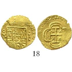 Mexico City, Mexico, cob 1 escudo, Philip V, (1714)J, from the 1715 Fleet.