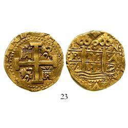 Lima, Peru, cob 8 escudos, 1732N.