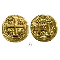 Lima, Peru, cob 8 escudos, 1739V.