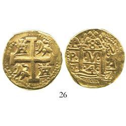 Lima, Peru, cob 8 escudos, 1747V, rare.